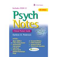 Psych Notes: Clinical Pocket Guide by Pedersen, Darlene D., 9780803639225