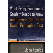 What Every Economics Student Needs to Know and Doesn't Get in the Usual Principles Text by Komlos; John, 9780765639233