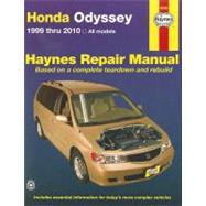 Haynes Honda Odyssey Repair Manual by Wegmann, John A.; Haynes, John Harold, 9781563929236