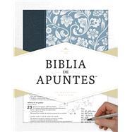 RVR 1960 Biblia de Apuntes - Azul - Piel genuina y tela impresa by Unknown, 9781433649240