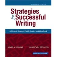 Strategies for Successful Writing by Reinking, James A.; von der Osten, Robert A., 9780134119243