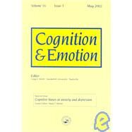 Cognitive Biases in Anxiety and Depression: A Special Issue of Cognition and Emotion by Hertel,Paula;Hertel,Paula, 9781841699257