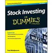 Stock Investing for Dummies by Mladjenovic, Paul, 9781119239284