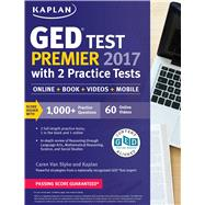 Ged Test Premier 2017 With 2 Practice Tests by Van Slyke, Caren, 9781506209289