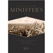 KJV Minister's Bible, Black Genuine Cowhide by Unknown, 9781586409302