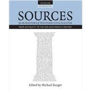 Sources for the History of Western Civilization by Burger, Michael, 9781442609303