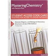 MasteringChemistry with Pearson eText -- Standalone Access Card -- for General, Organic, and Biological Chemistry Structures of Life by Timberlake, Karen C., 9780133899306