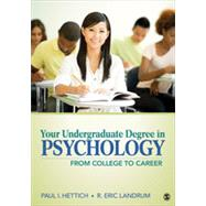 Your Undergraduate Degree in Psychology by Hettich, Paul I.; Landrum, R. Eric, 9781412999311