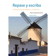 Repase y escriba: Curso avanzado de gramatica y composicion, Seventh Edition by Dominicis Spanish Grammars Dictionaries, 9781118509319
