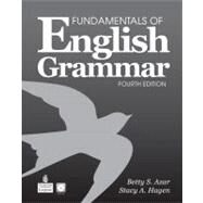 Fundamentals of English Grammar with Audio CDs, without Answer Key by Azar, Betty Schrampfer; Hagen, Stacy A., 9780132469326