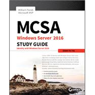 Mcsa Windows Server 2016 Study Guide by Panek, William, 9781119359326
