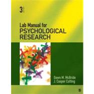 Psychological Research by Dawn M. McBride, 9781412999328