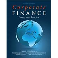 Corporate Finance: Theory and Practice by Vernimmen, Pierre; Quiry, Pascal; Le Fur, Yann, 9781118849330