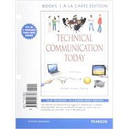 Technical Communication Today, Books a la Carte Plus MyWritingLab with eText -- Access Card Package by Johnson-Sheehan, Richard, 9780134059341