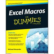 Excel Macros for Dummies by Alexander, Michael, 9781119089346