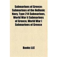 Submarines of Greece by , 9781158709359