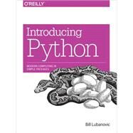 Introducing Python by Lubanovic, Bill, 9781449359362