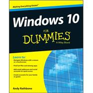 Windows 10 for Dummies by Rathbone, Andy, 9781119049364