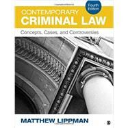 Contemporary Criminal Law by Lippman, Matthew, 9781483379364