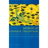 Sources of Chinese Tradition : Volume 1: from Earliest Times To 1600 by Bloom, Irene, 9780231109390