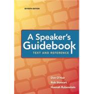 A Speaker's Guidebook: Text and Reference by O'Hair, Dan; Stewart, Rob; Rubenstein, Hannah, 9781319059415