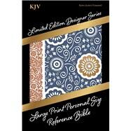 KJV Large Print Personal Size Reference Bible, Designer Series, Bohemian Paisley, LeatherTouch by Holman Bible Staff, 9781433619441