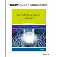 Marketing Research Essentials by Carl McDaniel Jr.; Roger Gates, 9781119239451