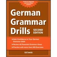 German Grammar Drills by Swick, Ed, 9780071789455