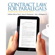 Contract Law for Paralegals by Reed, Kathleen; Cheeseman, Henry R.; Schlageter III, John J., 9780135109458
