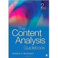 The Content Analysis Guidebook by Neuendorf, Kimberly A., 9781412979474