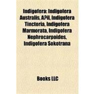 Indigofer : Indigofera Australis, Añil, Indigofera Tinctoria, Indigofera Marmorata, Indigofera Nephrocarpoides, Indigofera Sokotrana by , 9781157209478