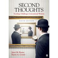 Second Thoughts by Ruane, Janet M.; Cerulo, Karen A., 9781452299495