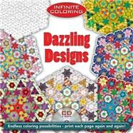Infinite Coloring Dazzling Designs CD and Book by Koichi Sato, 9780486469508