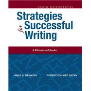 Strategies for Successful Writing, Concise Edition by Reinking, James A.; von der Osten, Robert A., 9780134119519