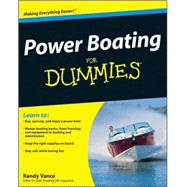 Power Boating For Dummies by Vance, Randy, 9780470409565