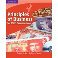 Principles of Business for CSEC Examinations Coursebook with CD-ROM by Davion Leslie, Kathleen Singh, 9780521189576
