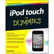 iPod touch For Dummies by Bove, Tony, 9781118129609