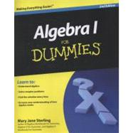 Algebra I For Dummies by Sterling, Mary Jane, 9780470559642