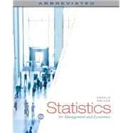 Statistics for Management and Economics by Keller, Gerald, 9781285869643