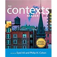 The Contexts Reader by Ali, Syed; Cohen, Philip N.; Page, Letta (CON), 9780393639650