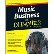 Music Business for Dummies by Weisman, Loren, 9781119049654
