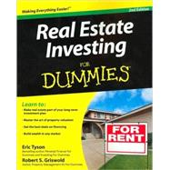 Real Estate Investing For Dummies by Unknown, 9780470289662