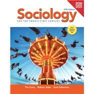 Sociology for the 21st Century, Census Update by Curry, Tim; Jiobu, Robert; Schwirian, Kent, 9780205179664
