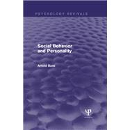 Social Behavior and Personality by Buss; Arnold H., 9781138829664