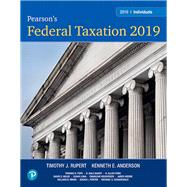 Pearson's Federal Taxation 2019 Individuals by POPE & RUPERT, 9780134739670