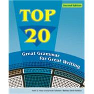 Top 20 Great Grammar for Great Writing by Folse, Keith; Solomon, Elena Vestri; Smith-Palinkas, Barbara, 9780618789672