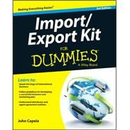 Import/Export Kit for Dummies by Capela, John J., 9781119079675