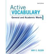 Active Vocabulary by Olsen, Amy E., 9780134119694