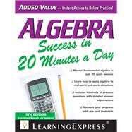 Algebra Success in 20 Minutes a Day by Unknown, 9781576859704