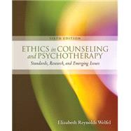 Ethics in Counseling & Psychotherapy by Welfel, Elizabeth Reynolds, 9781305089723